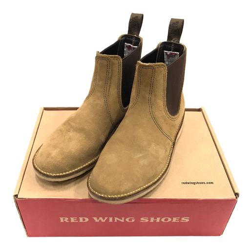 1円 レッドウィング サイズ 25 cm サイドコア ブーツ 靴 スエード調 カーキ 茶 箱付き 3312 メンズ RED WING