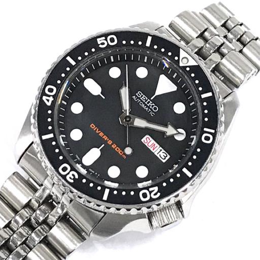 1円 セイコー 腕時計 7S26-0020 ダイバーズ 200m デイデイト 自動巻き メンズ 純正 SSベルト 稼働 SEIKO