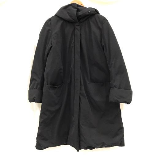 エンフォルド サイズ 38  ダウン ロング ジャケット ジップ開閉 黒 ブラック 保存袋付 レディース ENFOLD