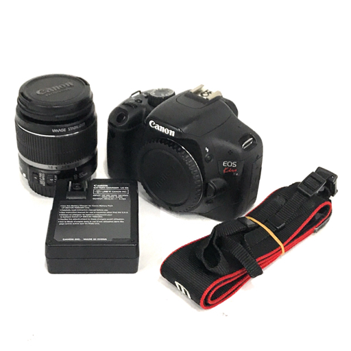 1円 Canon EOS Kiss X4 デジタル一眼レフカメラ ボディ EF-S 18-55mm 1:3.5-5.6 IS Ⅱ レンズ 充電器 セット キャノン