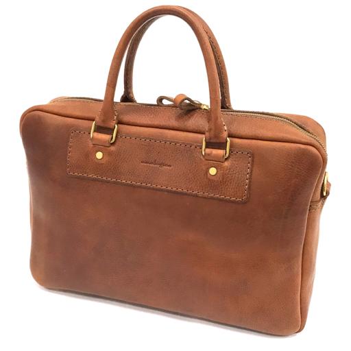 1円 アナロジコ レザー 2WAY トートバッグ ショルダーバッグ 肩掛け GD金具 茶 ブラウン メンズ 鞄 かばん analogico