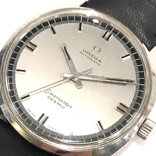 1円 オメガ シーマスター コスミック 自動巻き 腕時計 メンズ 稼働品 社外ベルト/尾錠 ワンピースケース OMEGA