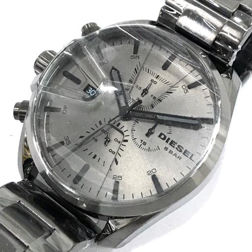 新品同様 ディーゼル 腕時計 DZ4484 ラウンド クロノグラフ クォーツ メンズ 純正ベルト 稼働 付属品有 DIESEL