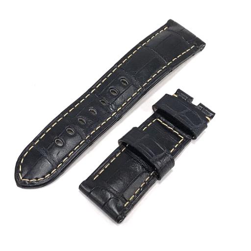 美品 パネライ 腕時計用 純正ベルト 通常バックル用 アリゲーター レザー ネイビー PANERAI
