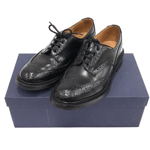 トリッカーズ 7 1/2 革靴 バートン ウィングチップ ビジネスシューズ フルブローグ 黒 MS633 メンズ 靴 Tricker's