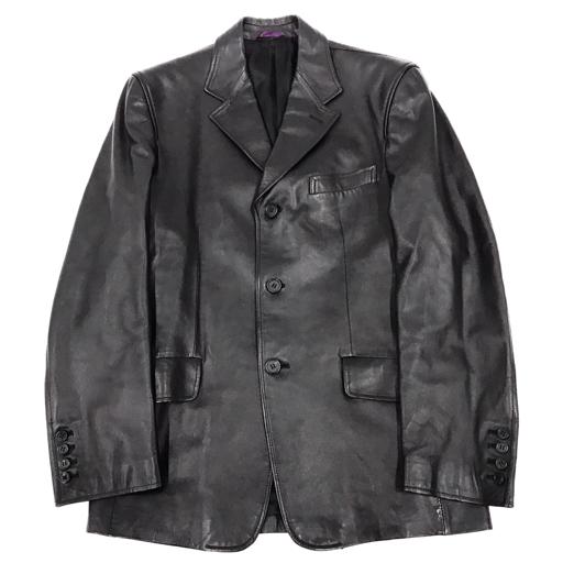 ポールスミス サイズ L 長袖 ジャケット アウター ボタン ラムレザー 羊革 メンズ ブラック 黒 Paul Smith
