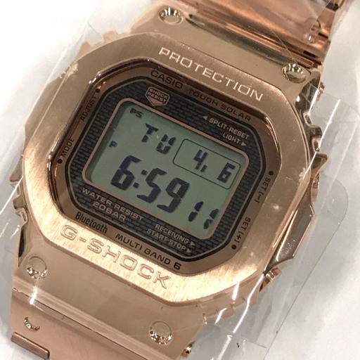 新品同様 カシオ 腕時計 G-SHOCK GMW-B5000GD-4JF マルチバンド6 Bluetooth搭載 ソーラー メンズ 稼働 付属有