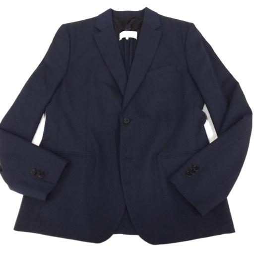 1円 メゾンマルジェラ 52 毛 テーラードジャケット バックスリット 無地 紺 ネイビー メンズ アウター MaisonMargiela