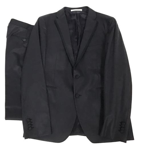 タリアトーレ サイズ 50/9 R スーツ 上下 セット 長袖 ジャケット パンツ ウール 混 メンズ ブラック TAGLIATORE