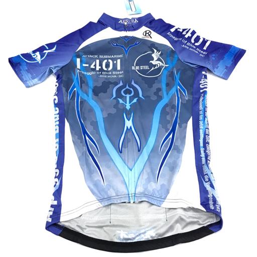 新品同様 アウローラ M 半袖 サイクルジャージ 劇場版 蒼き鋼のアルペジオ アルス・ノヴァ DC メンズ ブルー