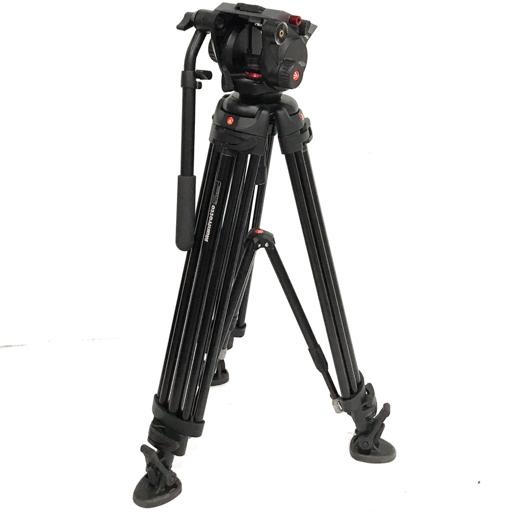Manfrotto 546B 504HD マンフロット ビデオキット ツイン MSタイプ ビデオカメラ用三脚 付属品有り