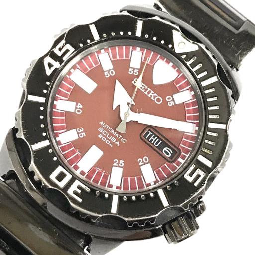 1円 セイコー 腕時計 7S26-03G0 スキューバ SCUBA 200m デイデイト 自動巻き メンズ 純正ベルト 稼働 SEIKO