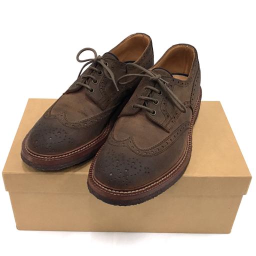美品 ブルネロクチネリ ウイングチップ 革靴 42 1/2 レザー ブラウン メンズ 保存袋 保存箱付き BRUNELLO CUCINELLI