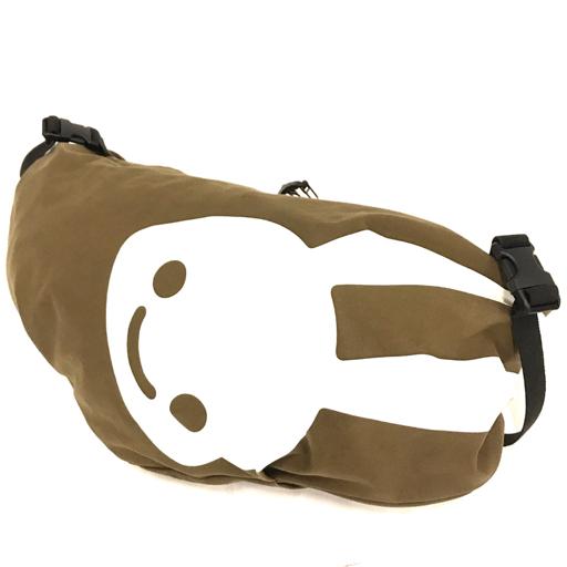 CUNE キャンバス ショルダーバッグ うさぎ ブラウン 斜めがけ かばん 鞄 キューン