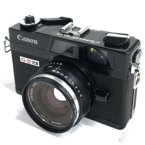 Canon Canonet QL17 G-III ブラック コンパクトフィルムカメラ 40mm F1.7 動作品 キャノン