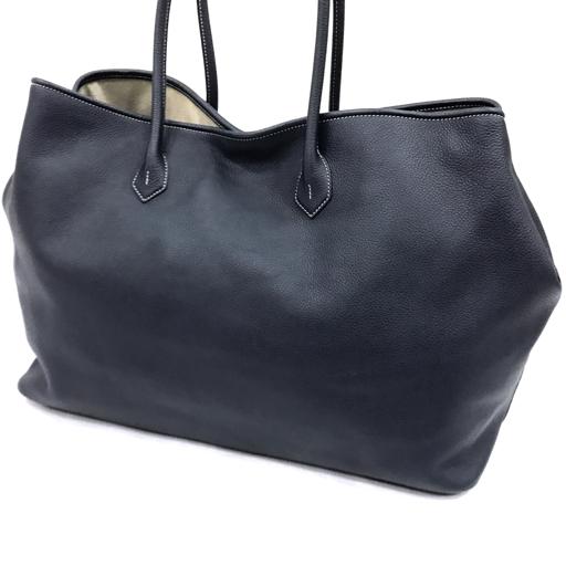 1円 cisei シセイ トートバッグ ネイビー レザー レディース 保存袋付き フィレンツェ カバン 女性