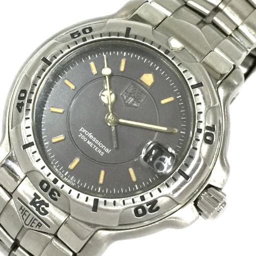 1円 タグホイヤー 腕時計 WH1212 プロフェッショナル 200m デイト クォーツ メンズ 純正ベルト TAG Heuer