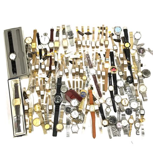 1円 グッチ セイコー BUREN ロイヤルクラウン アルバ 他 機械式 クォーツ 腕時計 総重量約3.70kg まとめ セット