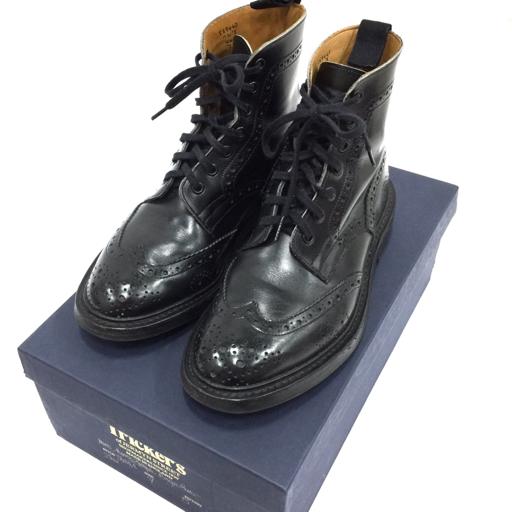 Tricker's×Paul Smith 7 レザーブーツ ウイングチップシューズ ブラック メンズ 箱付き トリッカーズ×ポールスミス