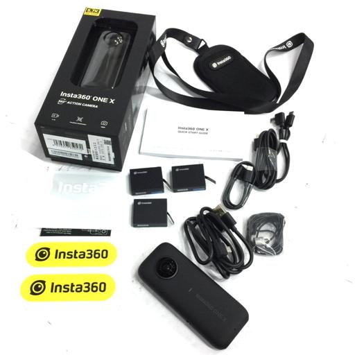 1円 Insta360 ONE X 360度 アクションカメラ ブラック インスタ360 動作品 付属品あり