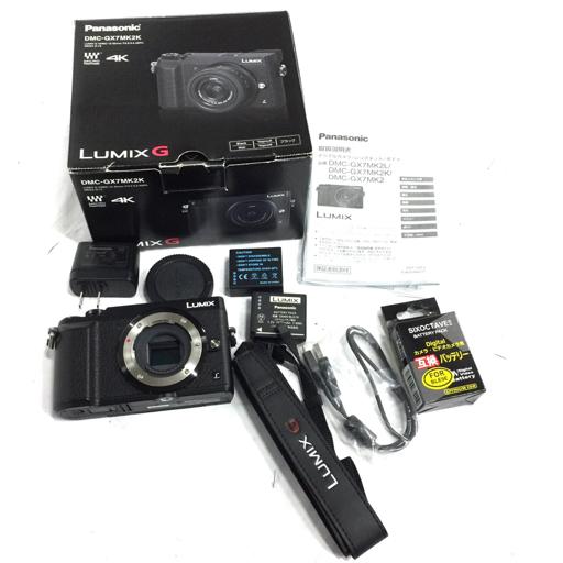 1円 Panasonic LUMIX DMC-GX7MK2K 4K ミラーレス一眼カメラ ボディ 動作品 付属品あり パナソニック