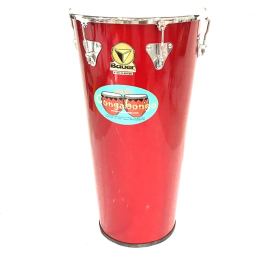 1円 Bauer チンバウ パーカッション ブラジル 打楽器 高さ67.5cm 盤上サイズ37cm×37cm 保存箱付き バウアー