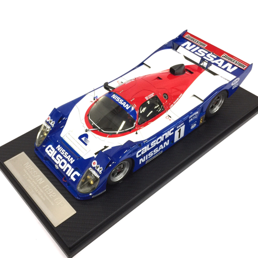 frontiart 京商 1/18 nissan r92cp calsonic no.1 全日本富士500マイル ミニカー レーシングカー 保存箱付き ホビー