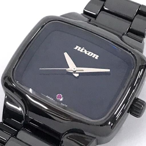 ニクソン 腕時計 THE CERSMIC PLAYER スクエアフェイス 自動巻き メンズ 純正 ベルト 稼働 ブラック 付属品有り