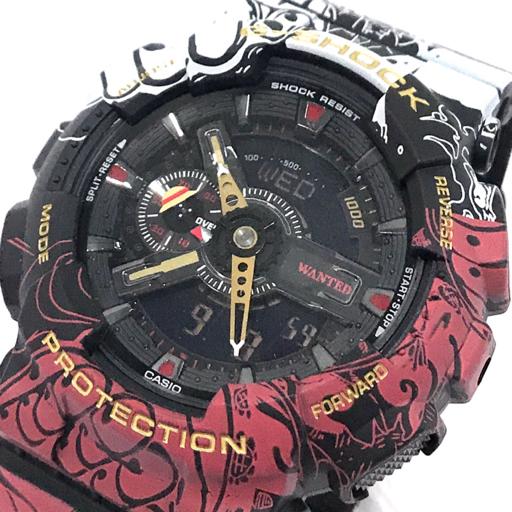 1円 新品同様 カシオ Gショック ONE PIECE コラボ GA-110J0P クォーツ デジアナ 腕時計 付属品有り 稼働品 未使用品