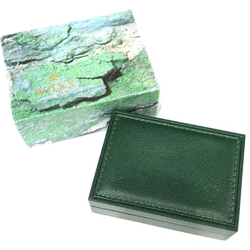 【付属品のみ】 ロレックス オイスター 腕時計用 空箱 保存箱 外箱 内箱 ケース セット 緑 グリーン ROLEX