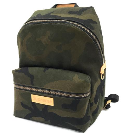 1円 美品 ルイヴィトン×シュプリーム アポロ モノグラム・カモフラージュ バックパック M44200 袋付き LOUIS VUITTON
