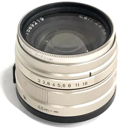 1円 CONTAX Carl Zeiss Planar 45mm F2 T* G カメラレンズ 動作品 付属品有り コンタックス